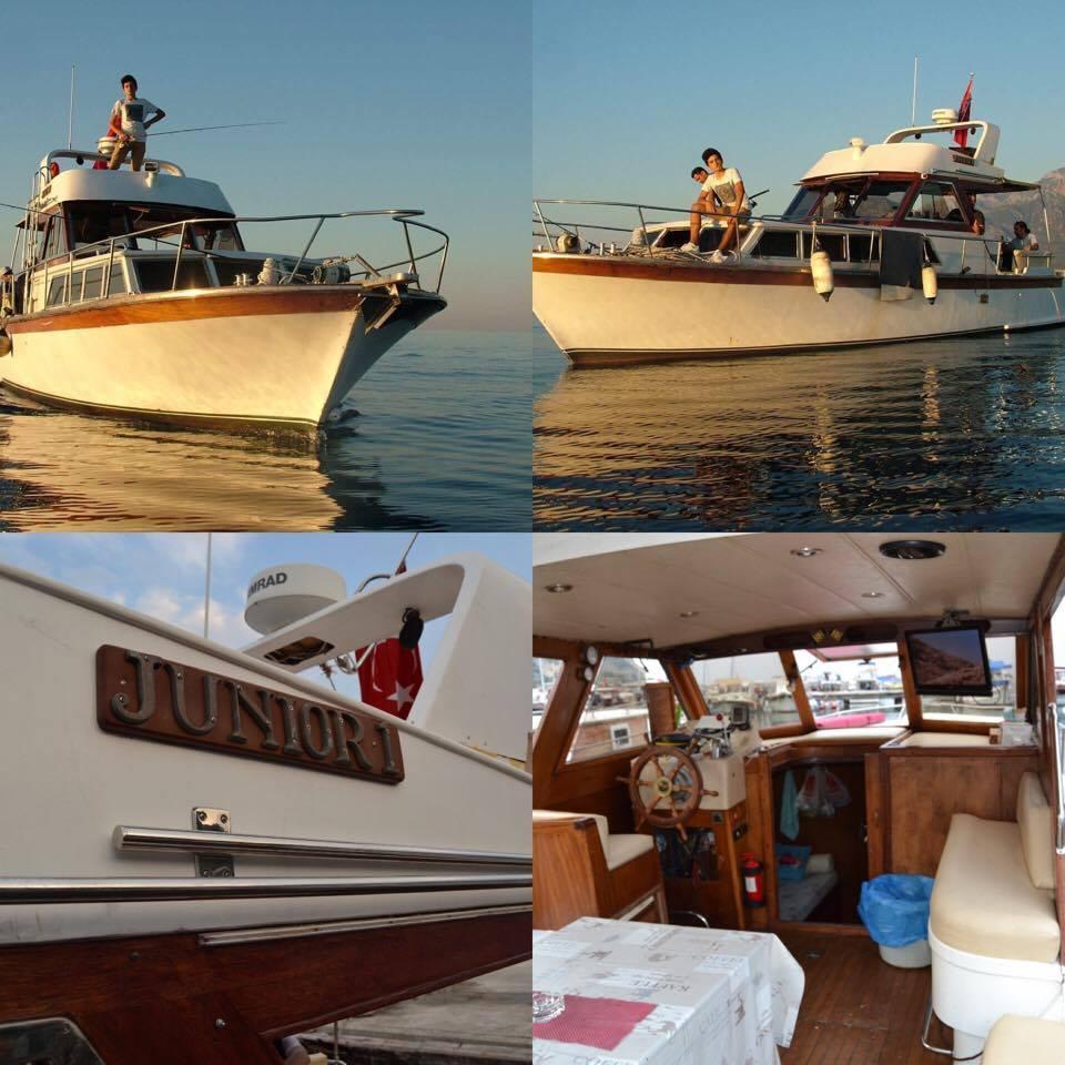 Poyraz Paşa Yatçılık - JUNIOR 1 - Teknesi - Antalya Balık Avı Turları